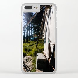 Outdoor Tent Clear iPhone Case