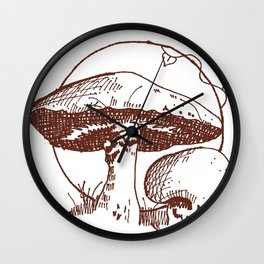 Forest Lover's Mushrooms Wall Clock