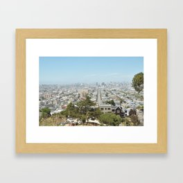 Almost all of San Francisco Panorama as seen from Bernal Heights Hill Framed Art Print