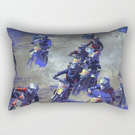 Lets Race!  - Motocross Racers Rectangular Pillow