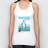 wes anderson Tank Tops featuring THE LIFE AQUATIC WITH STEVE ZISSOU (Wes Anderson, 2004) by Mario Morales