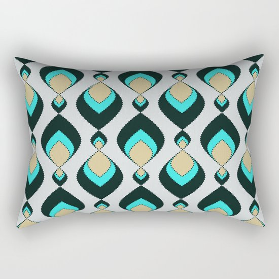 Retro pattern . A Peacock's Tail 1 . Rectangular Pillow