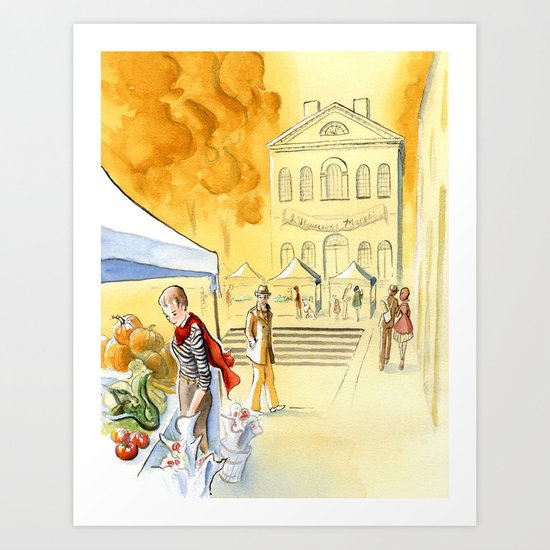 France comes to Salem, interior Art Print