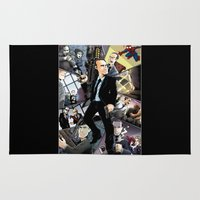 phil jones Area & Throw Rugs featuring Phil Coulson Montage by Page Branson