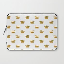 Wedding White Gold Crowns Laptop Sleeve