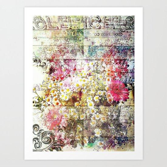 Wild flowers on display Art Print