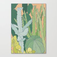 cacti Canvas Prints featuring Cacti by Julia Walters Illustration