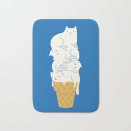 Cats Ice Cream Bath Mat