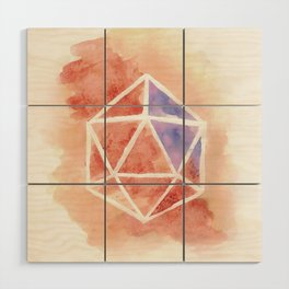D20 Wood Wall Art