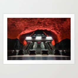 Solna Centrum Metro Station in Stockholm, Sweden IV Art Print