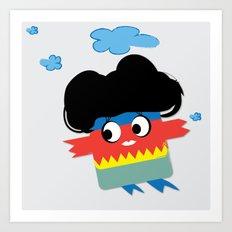Flying Birdie Art Print