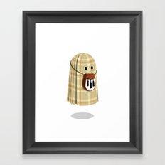 Plaid ghost Framed Art Print
