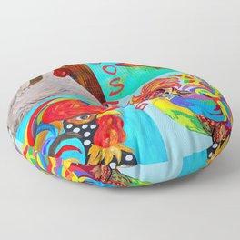 Rooster Menagerie Floor Pillow