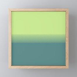 Lime green to dark green gradient boundary spectrum Framed Mini Art Print