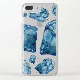 Alexandrite Birthstone Watercolor Illustration Clear iPhone Case