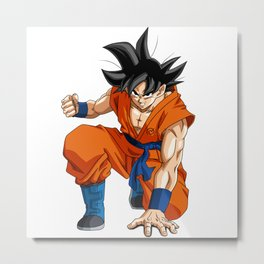 Fan Art Goku Dragonball Metal Print