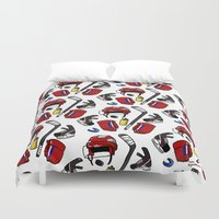 kit king Duvet Covers featuring Hockey kit by Kana Aiysoublood