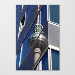 Fernsehturm Berlin Spiegelung Foto -  TV tower Berlin mirroring Photo Canvas Print