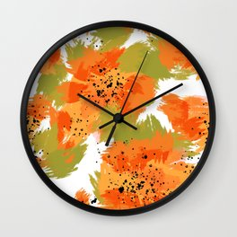 Papaya Explosion #society6 #papaya Wall Clock