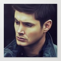 dean winchester Canvas Prints featuring Dean Winchester by Kaye Pyle