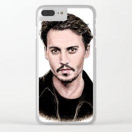 J Depp Clear iPhone Case