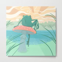 By the lakeside Metal Print