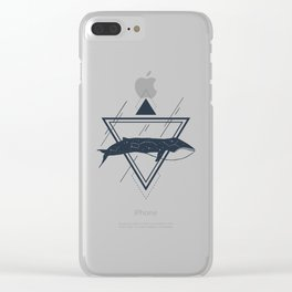 Cosmic Whale. Geometric Style Clear iPhone Case