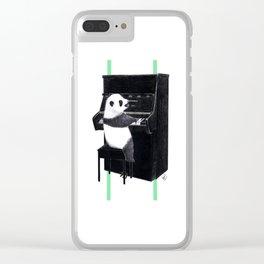 Piano Panda Clear iPhone Case