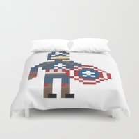 steve rogers Duvet Covers featuring Steve Rogers by Bryan