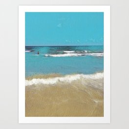 Palm Beach Waves Art Print