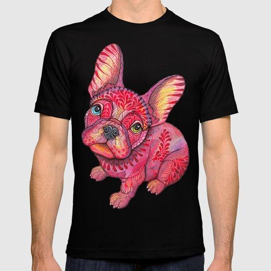 Raspberry frenchie T-shirt