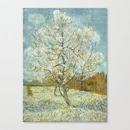 Vincent Van Gogh Peach Tree In Blossom Canvas Print