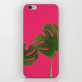 Monstera madness VI iPhone Skin