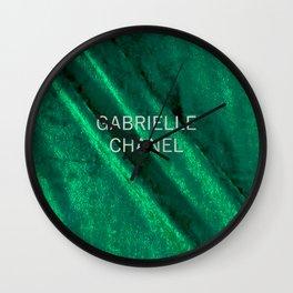green velvet fabric gabrielle Wall Clock