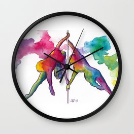 Tiny Dancers: The Dynamite Duo Wall Clock