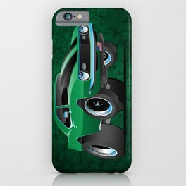 Classic American Muscle Car Cartoon iPhone Case