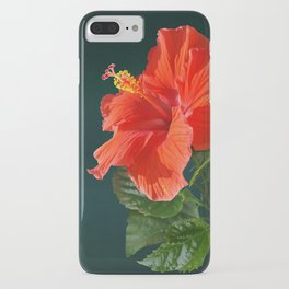Red Darling Hibiscus iPhone Case