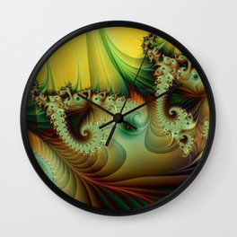 A secret Place abstract Fractal Art Wall Clock