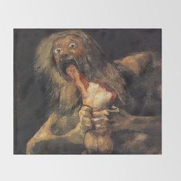 SATURN DEVOURING HIS SON - GOYA Throw Blanket