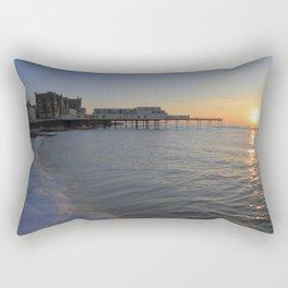 Setting Sun over Aberystwyth Rectangular Pillow