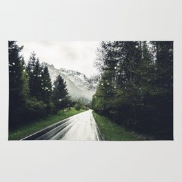 Down the Road - Mountains, Forest, Austria Rug