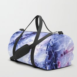 Purple Marble Duffle Bag