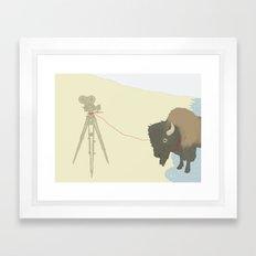 Bison & Camera Framed Art Print