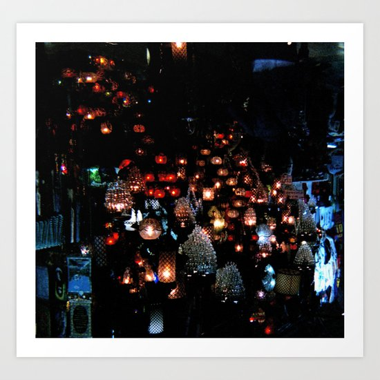 Lanterns in the Souk, Istanbul Art Print