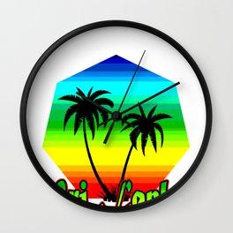 Sri Lanka Coconut Tree  Country Asia Island  Gift  Wall Clock