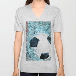 Soccer art Unisex V-Neck
