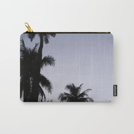 Tropical palm trees in sunset blue Carry-All Pouch