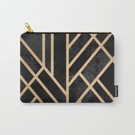 Art Deco Black Carry-All Pouch
