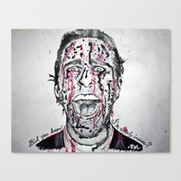 american psycho Canvas Prints featuring American Psycho  by pmaiti