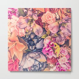Beautiful background with different flowers Metal Print